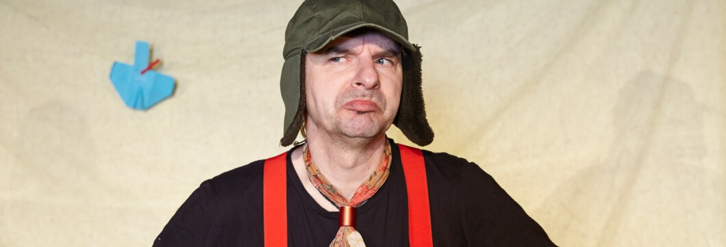 Peter Wachter spielt den Maulwurf Grabowski.