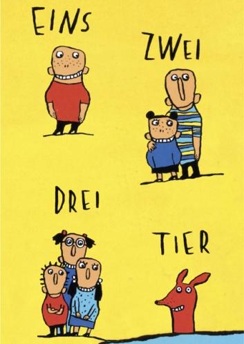 Plakat Eins Zwei Drei Tier